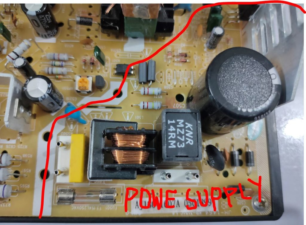 CRT TV Power supply Section