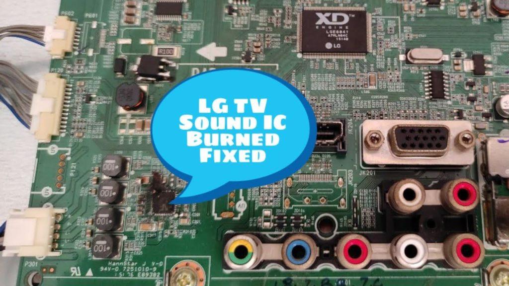 lcd led no sound problem