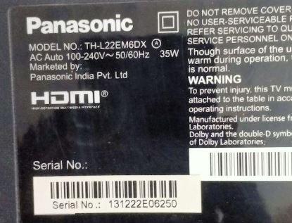 TH-L22EM6DX Panasonic TV Software Download